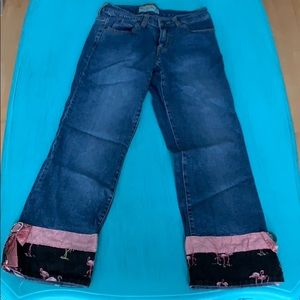 Flamingo cropped jeans